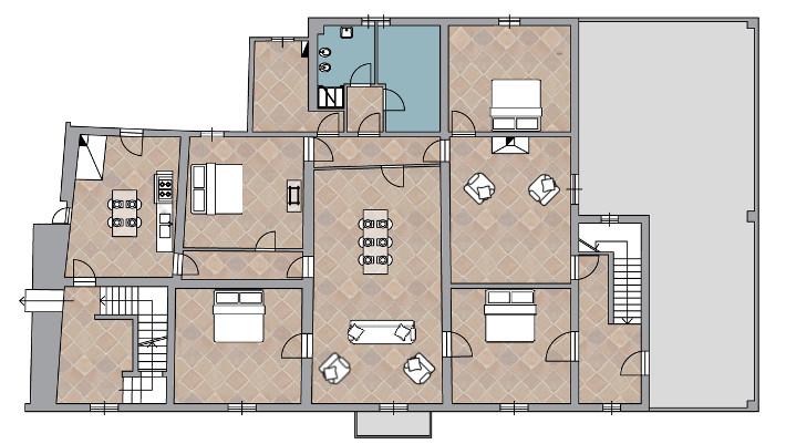 Piantina casa moderna idee per interni e mobili for Grandi planimetrie